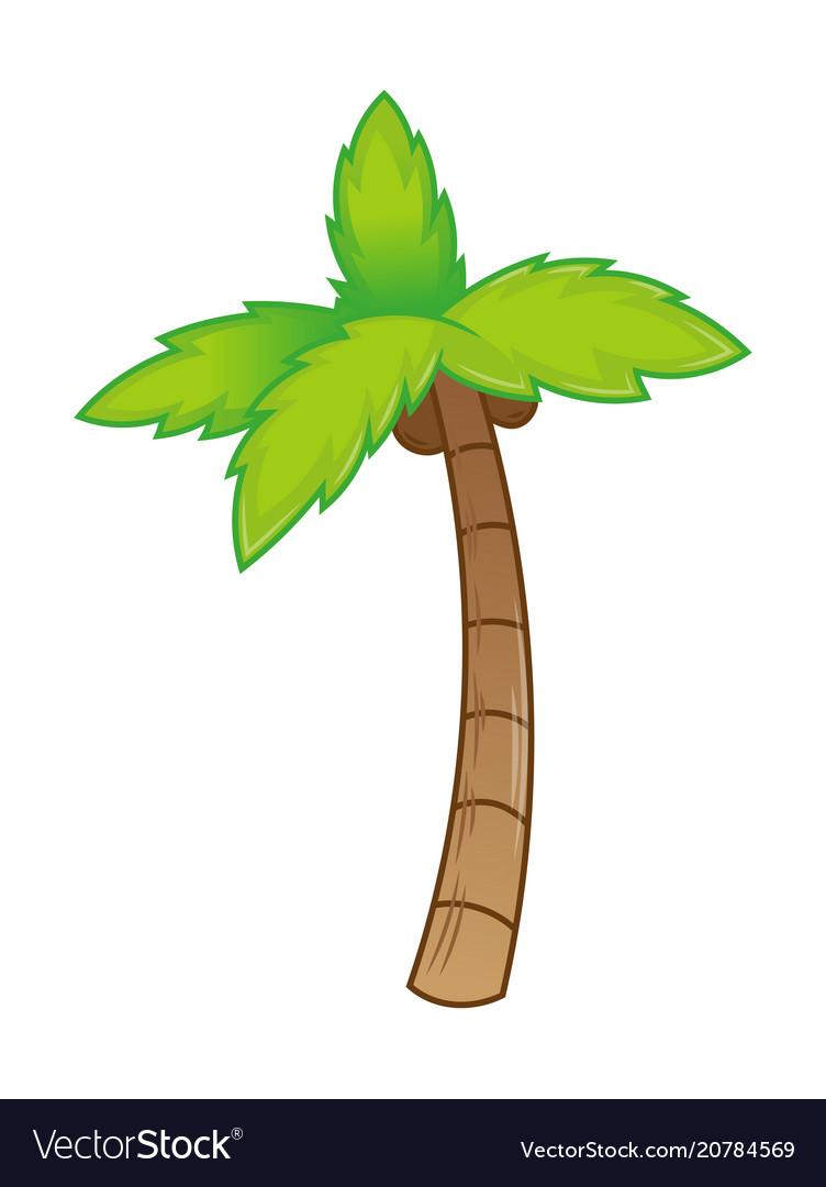 Icon palm vector image