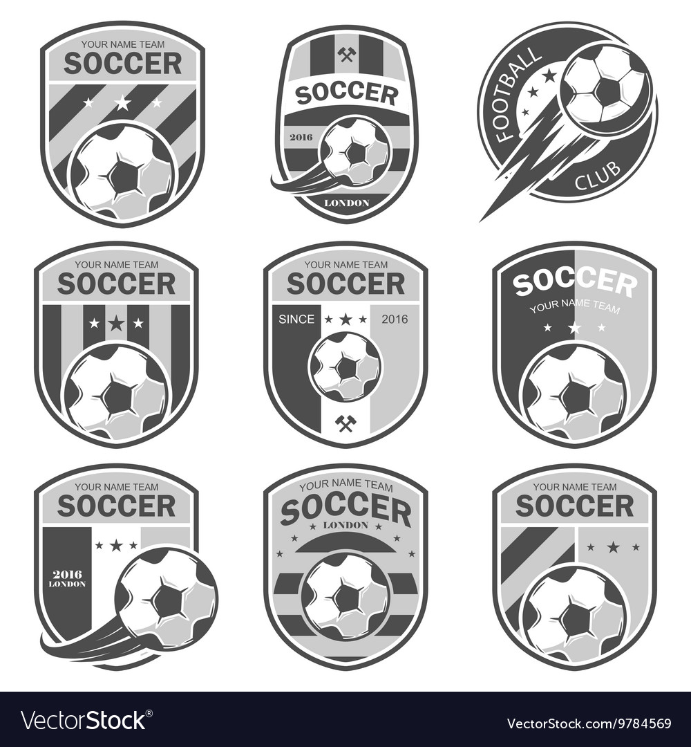 Set of football logos
