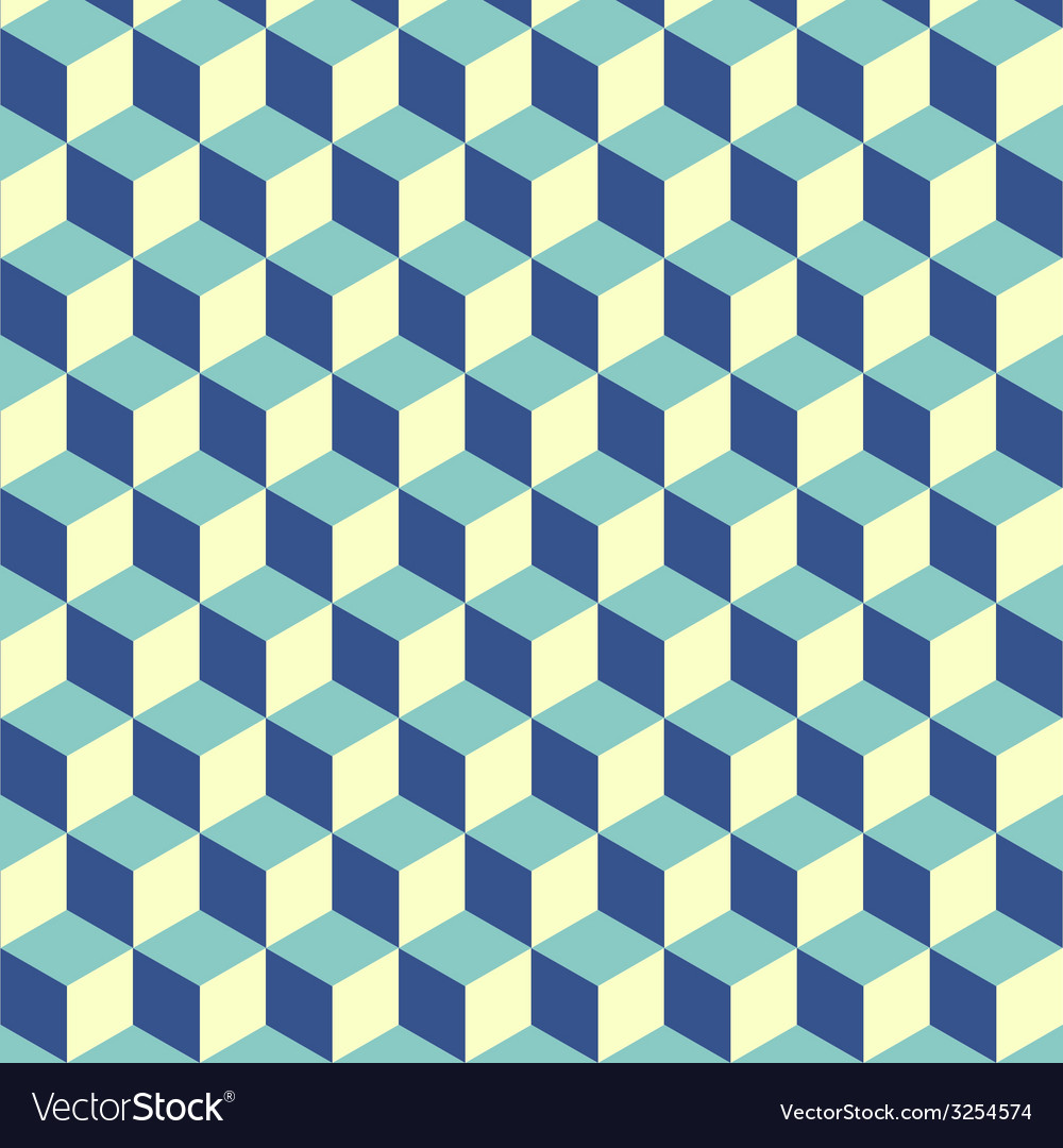 Abstract isometric cube pattern background vector image