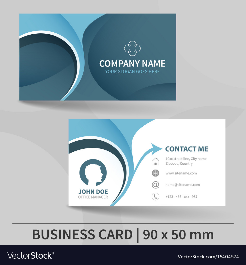 Blue creative business card template royalty free vector blue creative business card template vector image flashek Choice Image