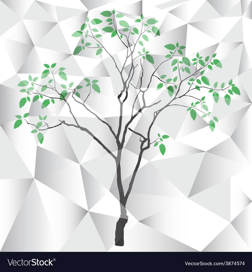 Polygon tree background vector image