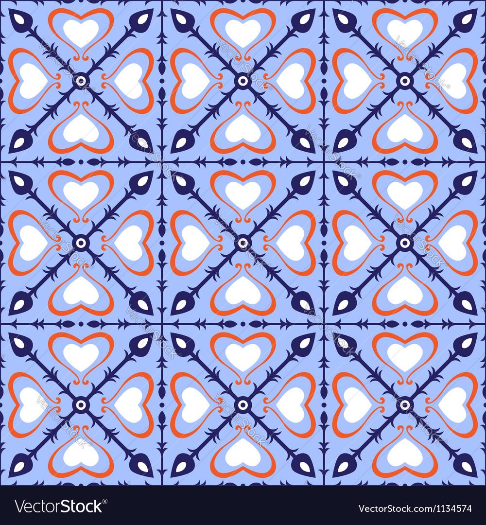 Seamless Arabic Tiles Vector Image