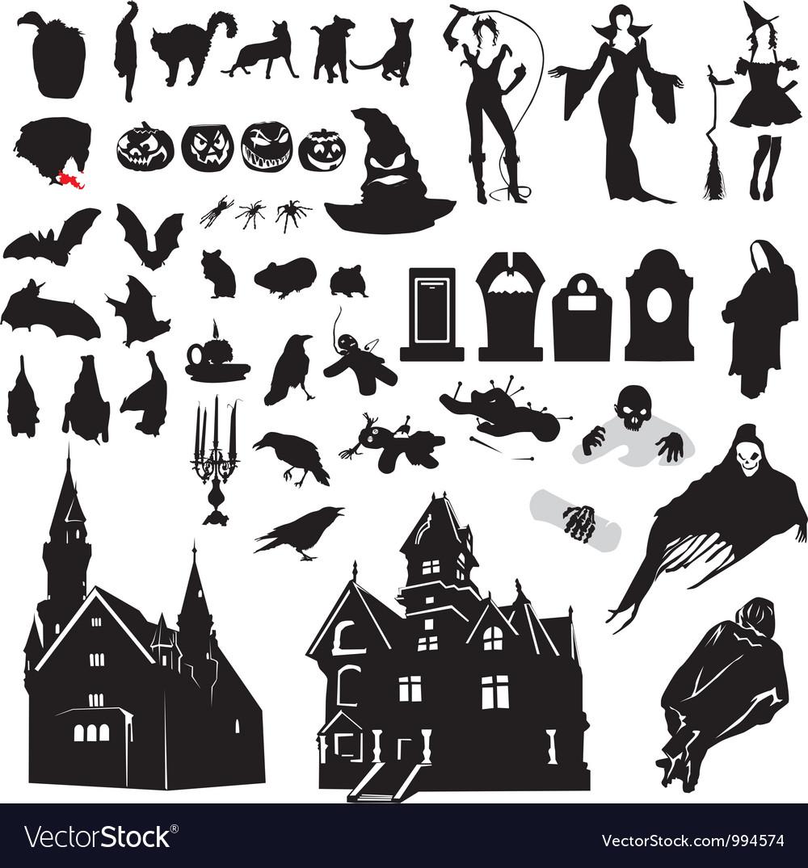 halloween window silhouettes template