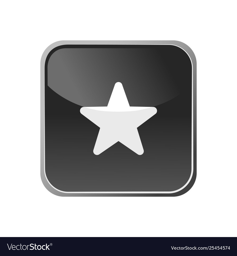 Star icon on a square button