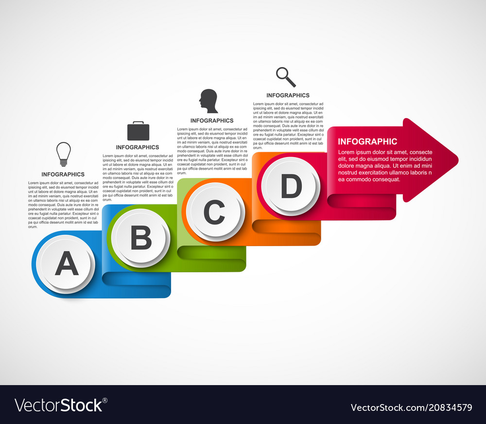 Abstract options infographic template for