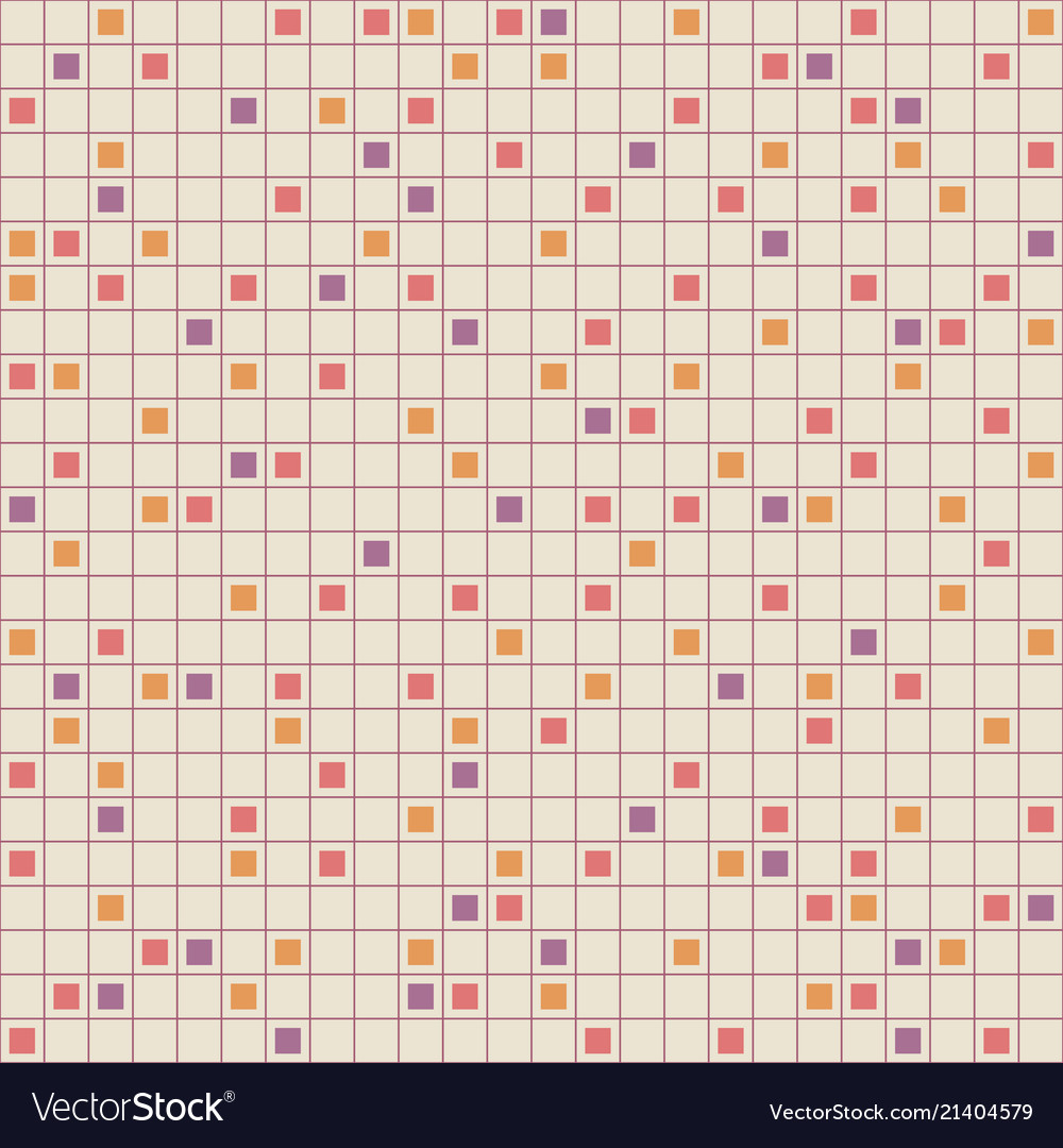 Abstract seamless squared pattern