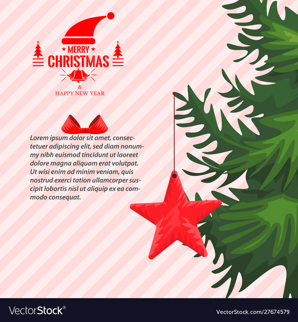 Christmas greeting card with or story template