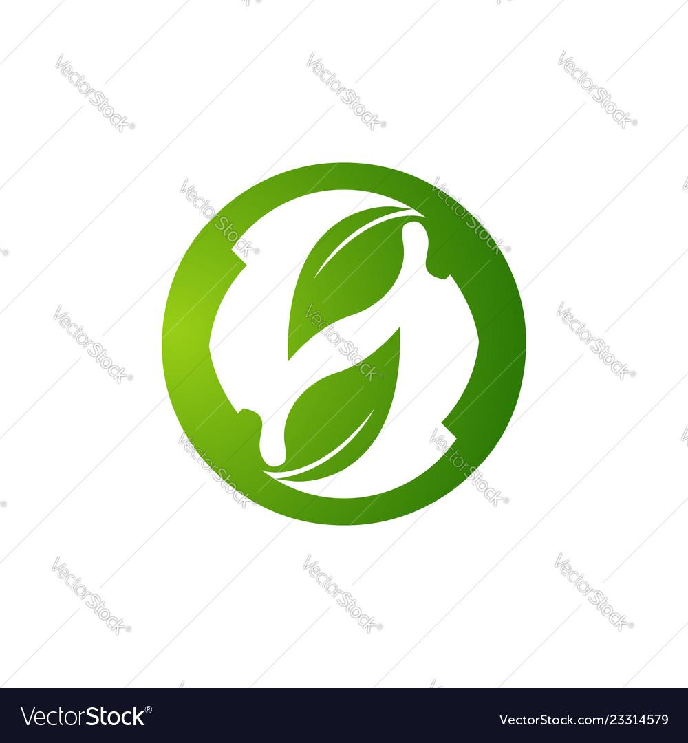 Eco friendly logo concept ecology logo eco green