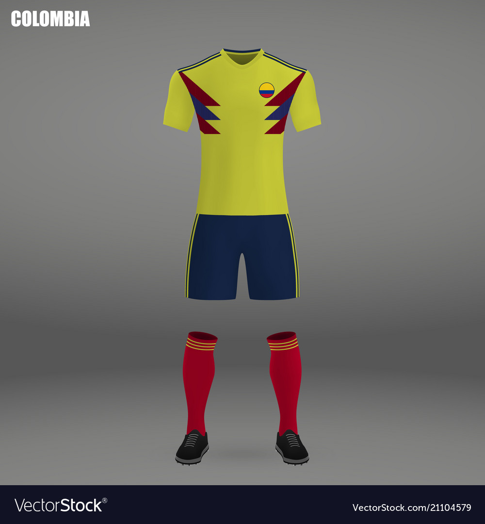 Football kit of colombia Royalty Free Vector Image 394239b09