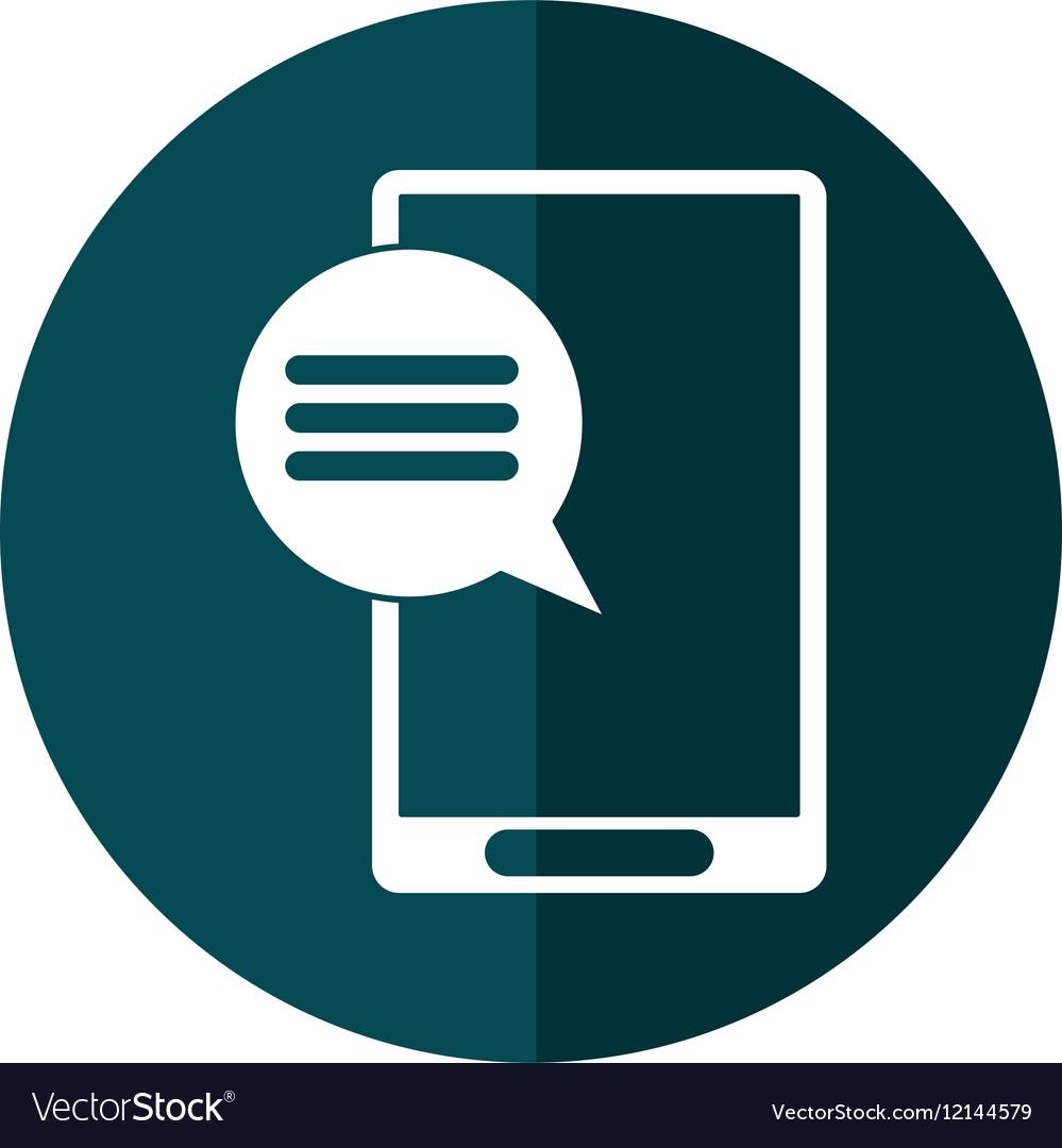 Smartphone communication bubble speech green