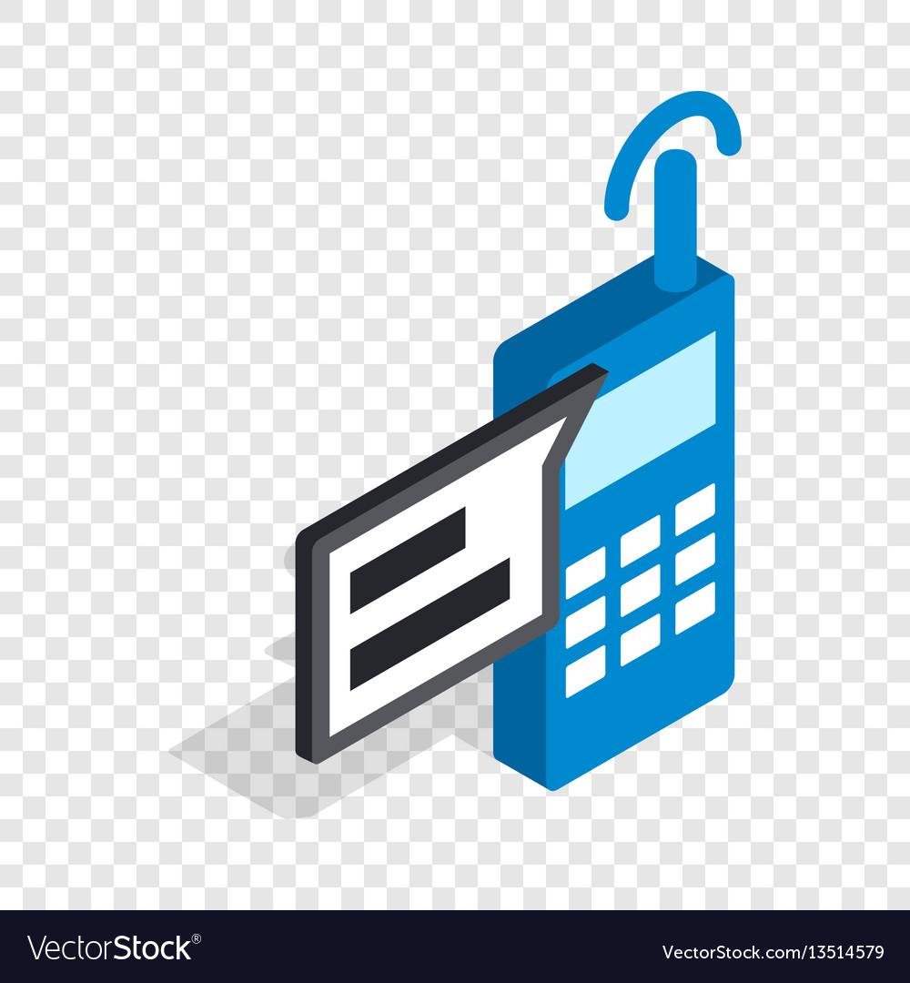 Talking on radio isometric icon