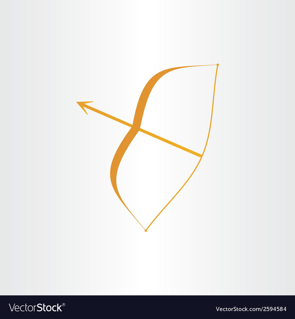 Archer bow arrow vector image