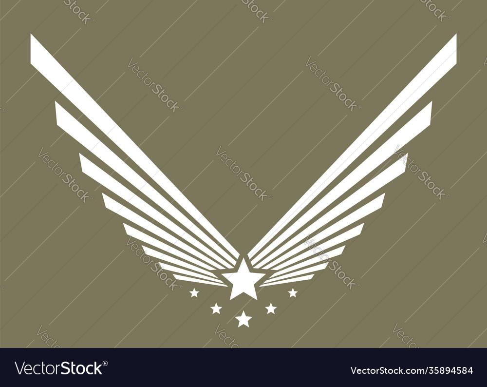 Army logo military symbol or emblem eagle wing