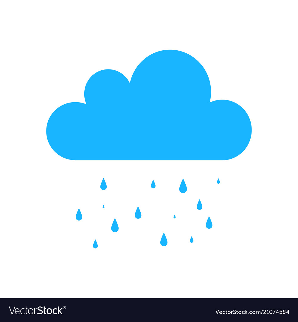 Blue rain icon isolated on background modern simp