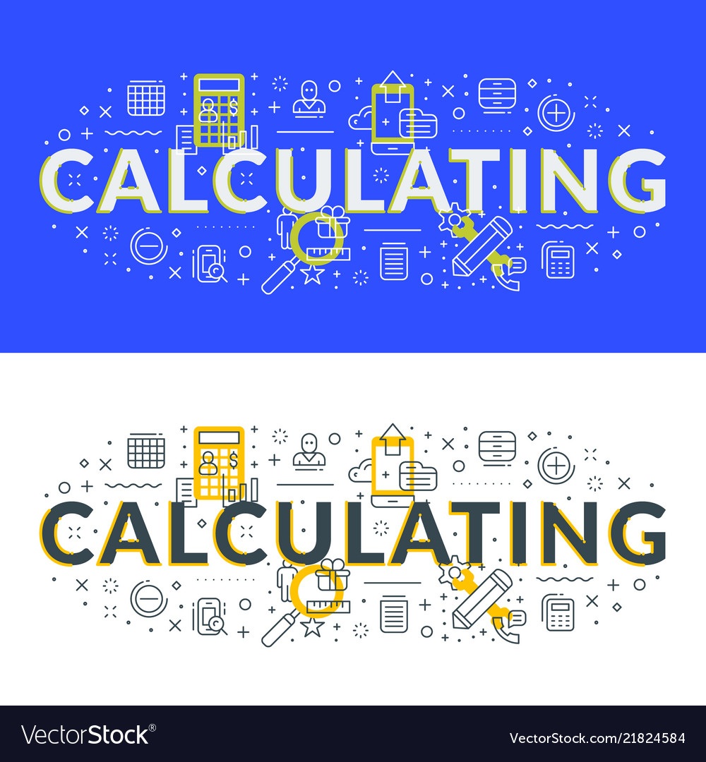 Calculating flat line concept for web banner and