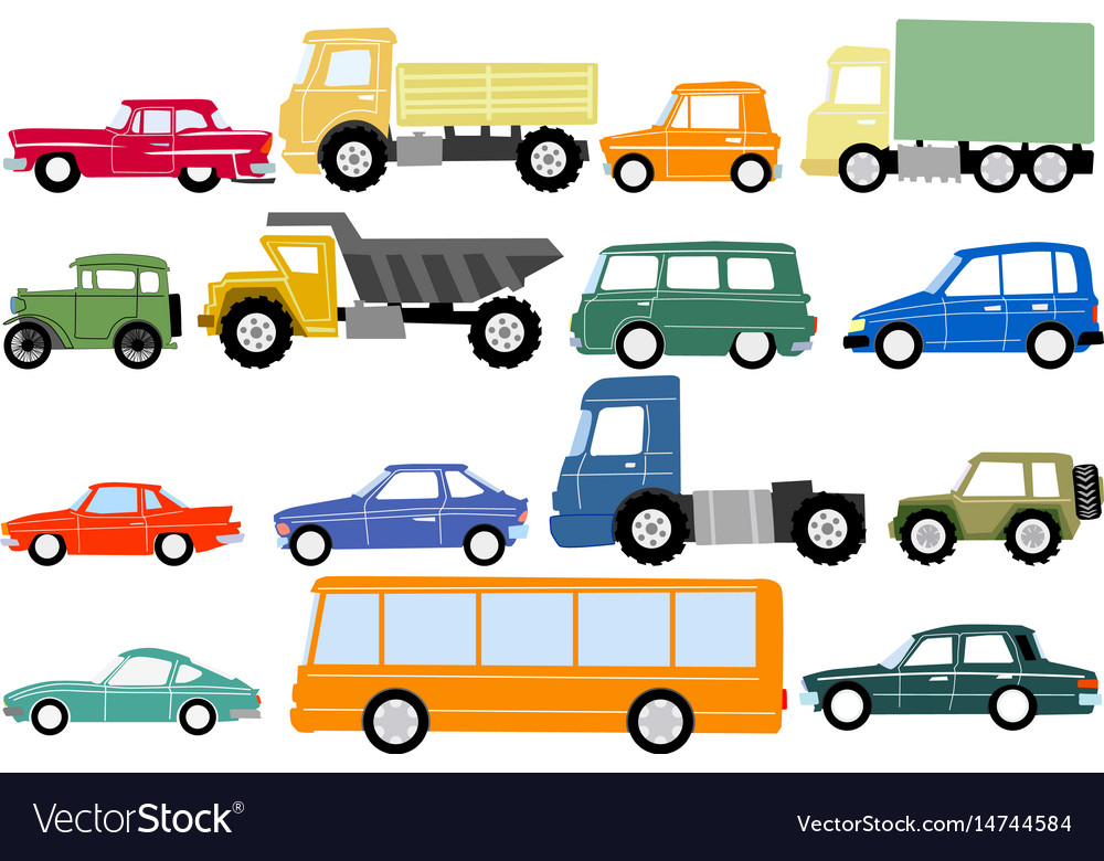 Different Types Of Cars Royalty Free Vector Image