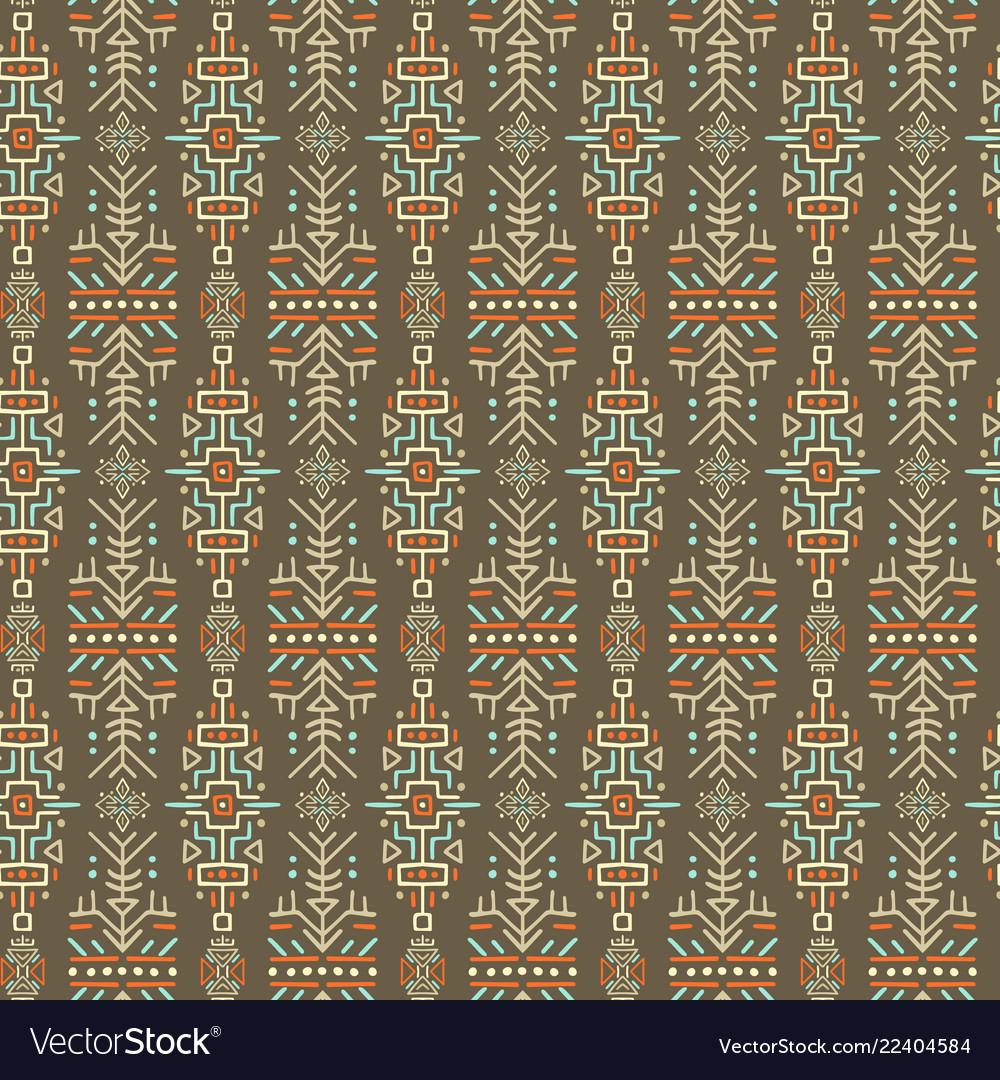Ethnic style seamless pattern