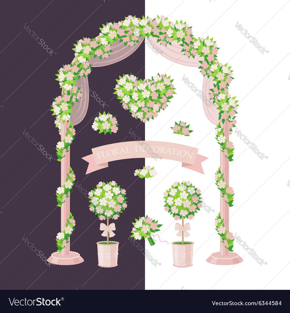 Floral decoration beige