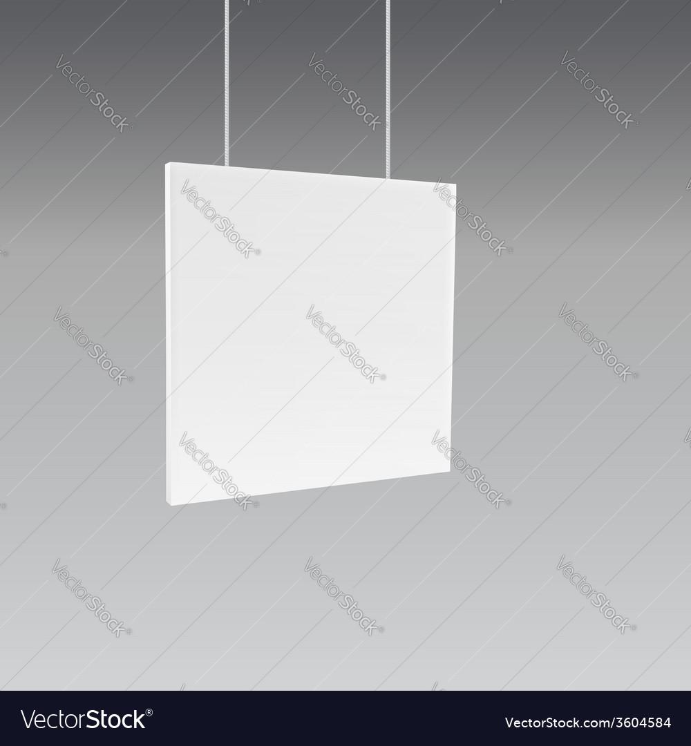 Hanging wall sign vector image