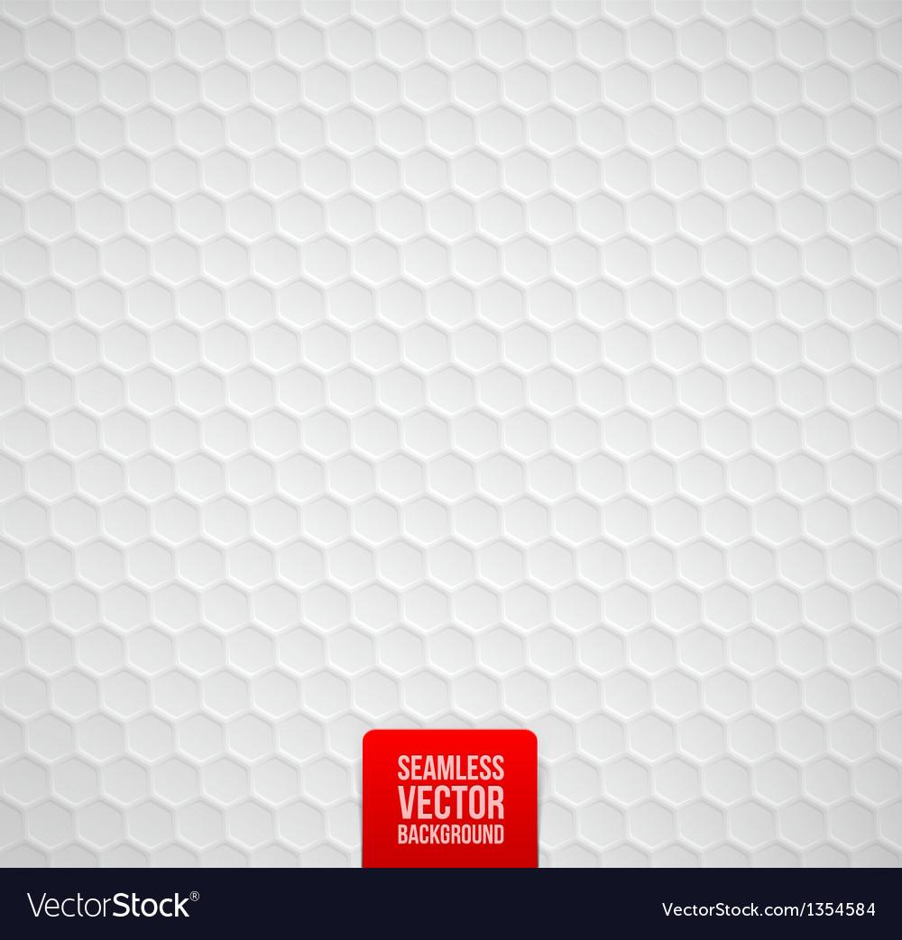 Hexagons seamless white background