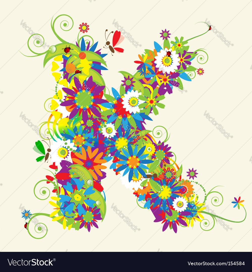 Letter K floral design
