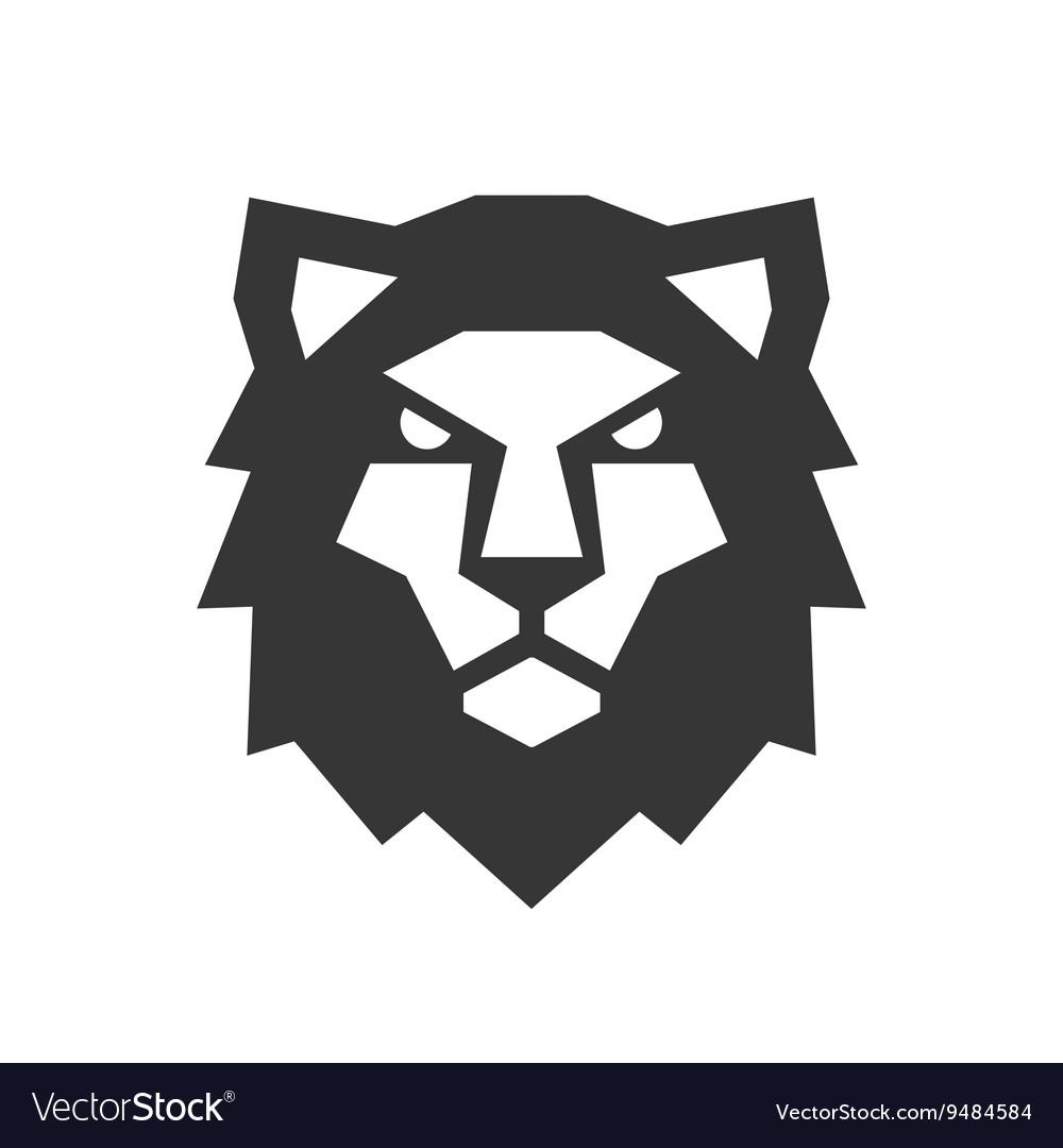 Lion Head Logo on White Background