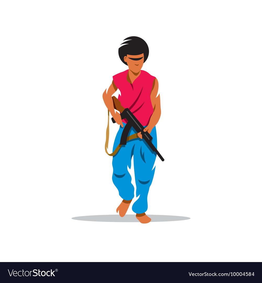 Man with gun Cartoon