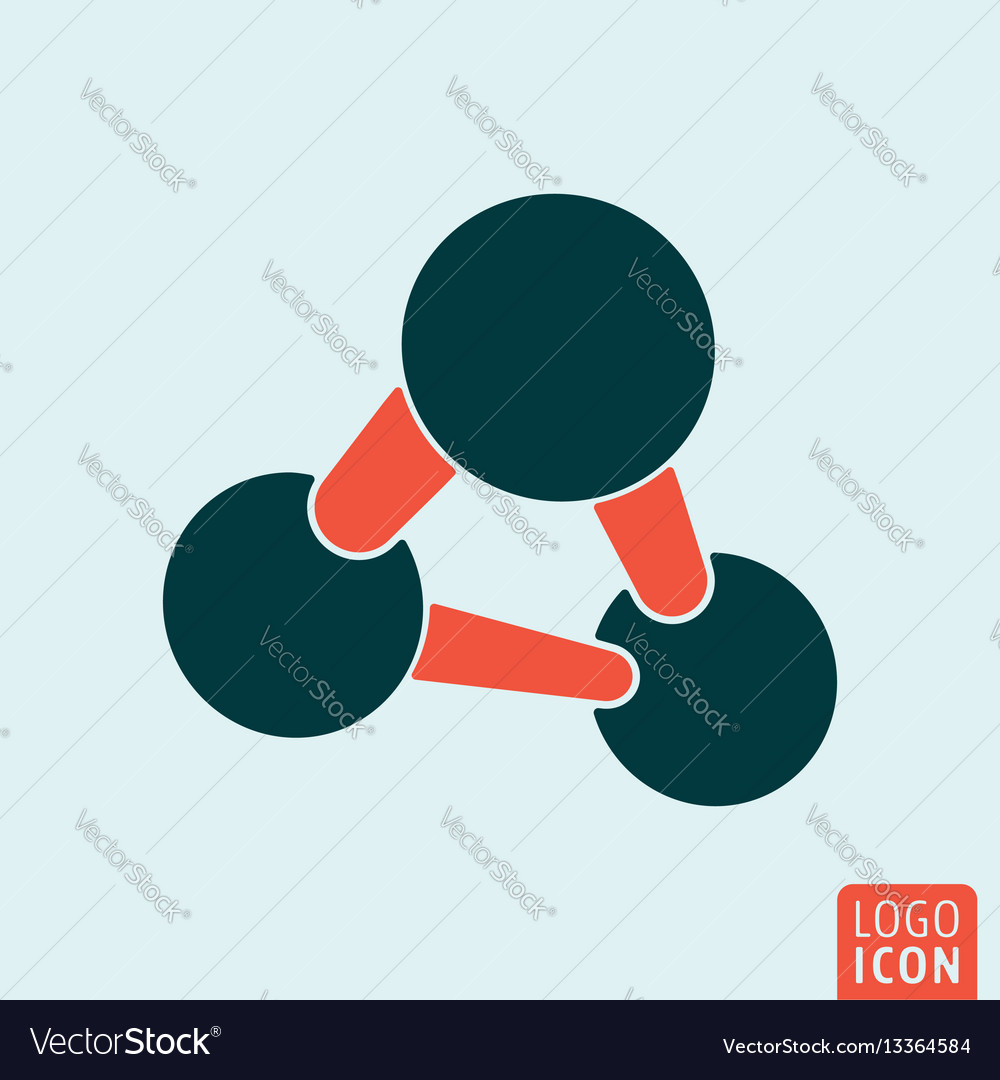 Molecule icon isolated