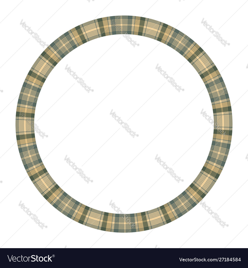 Round frame vintage pattern design template