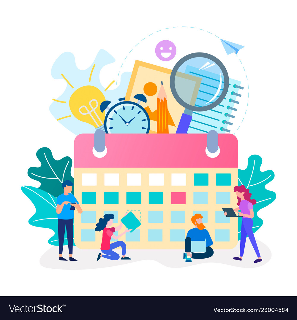 Time management concept team work office