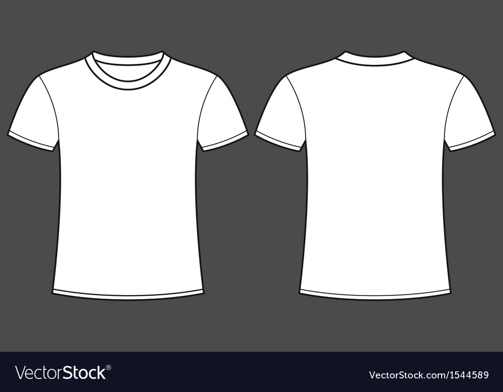 Blank T Shirt Template Front And Back Vector Image