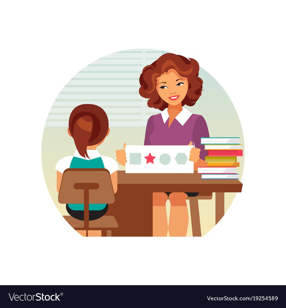 Child psychologist Royalty Free Vector Image - VectorStock