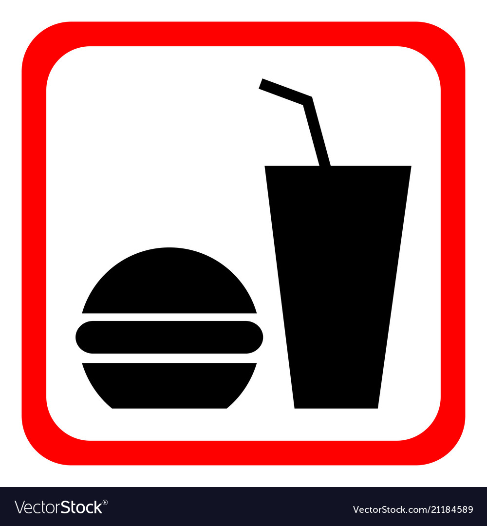Fast food icon on a white background