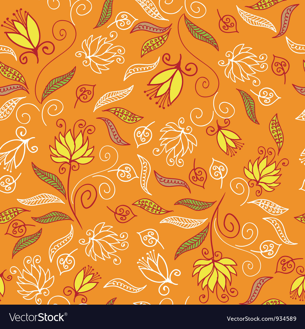 Floral seamless pattern in purple colors vector image
