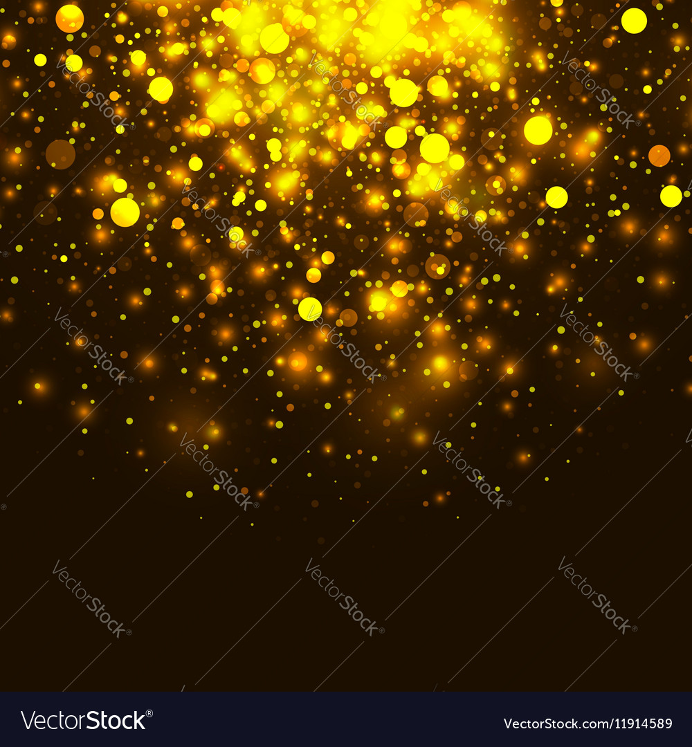Gold glowing light glitter background