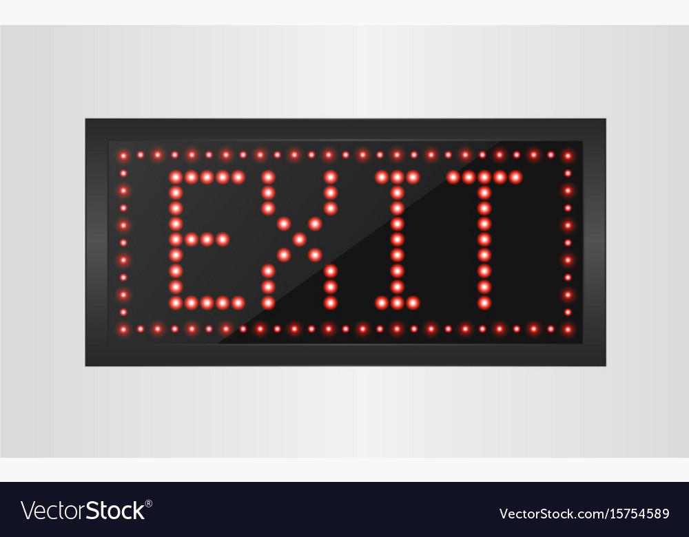 Led lights exit sign