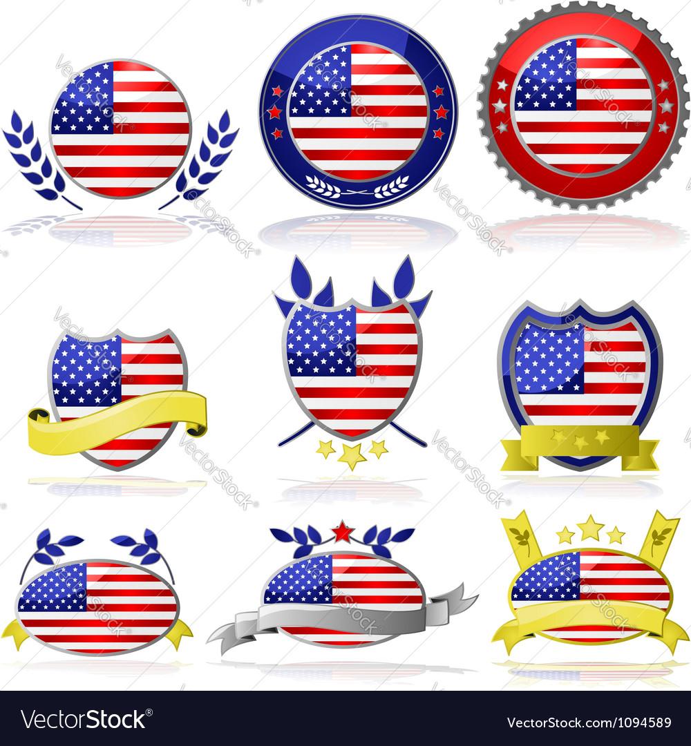 USA badges vector image
