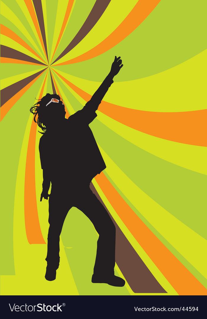 Disco dancer vector image