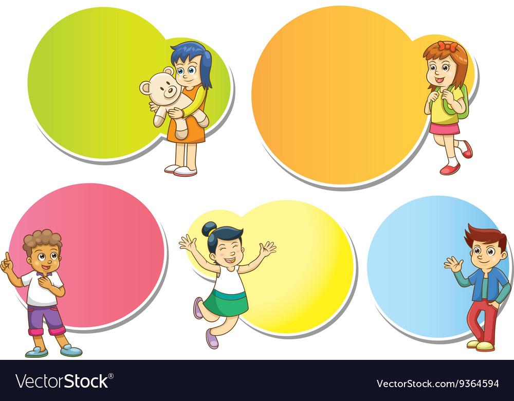 Funny cartoon character frame
