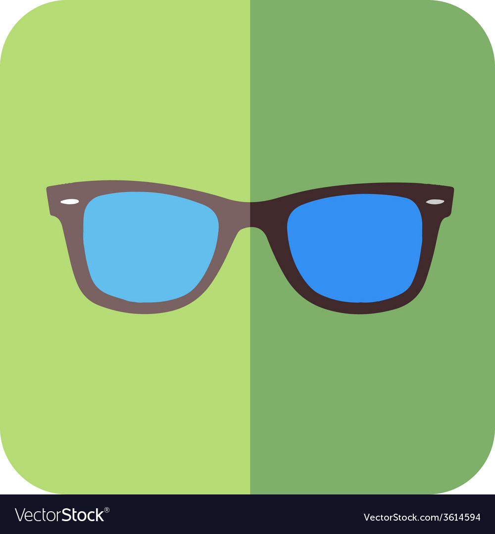 Glasses in flat design vector image