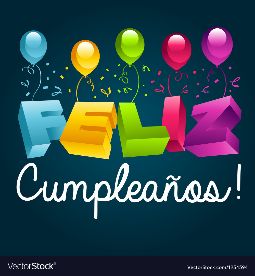 Happy Birthday In Spanish.Happy Birthday In Spanish