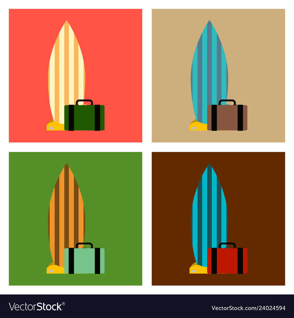 Sea surfing pattern with different type surf vector image