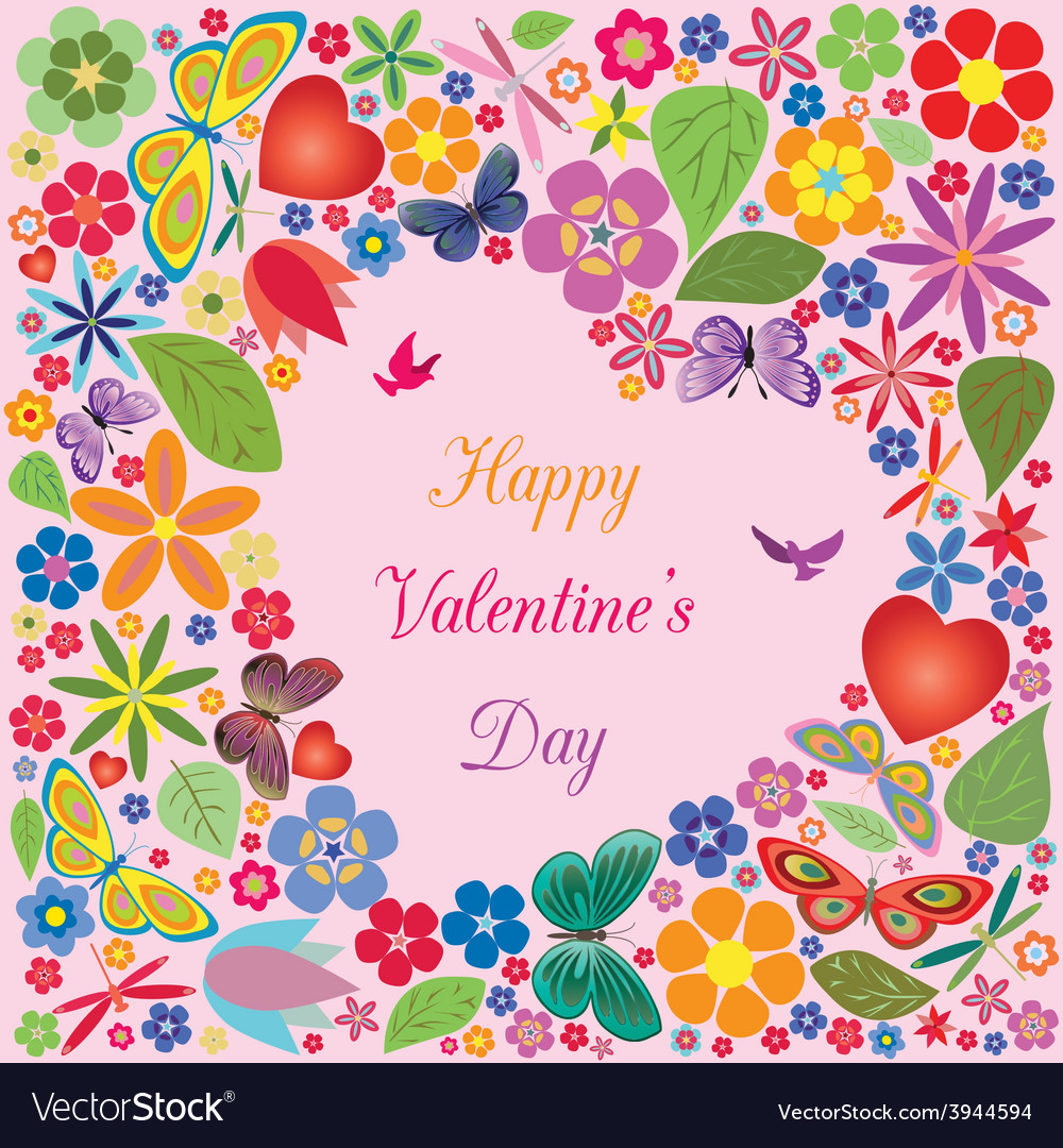 Valentines day invitations design vector image
