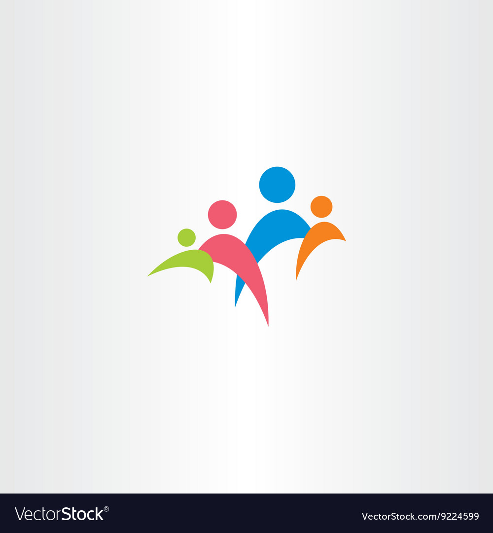 Colorful icon family symbol vector image
