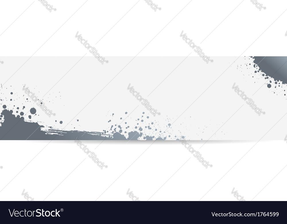 Grunge banner gray vector image
