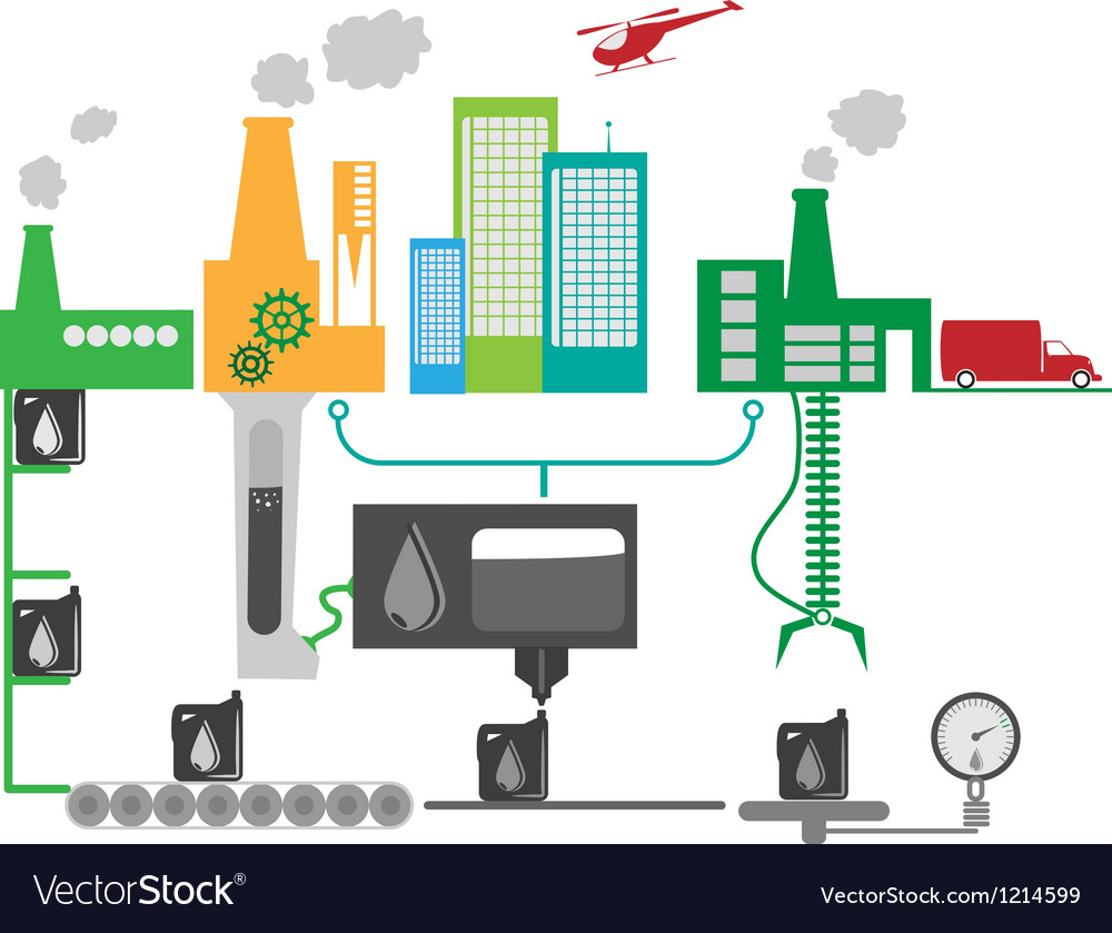 Industrial factory vector image