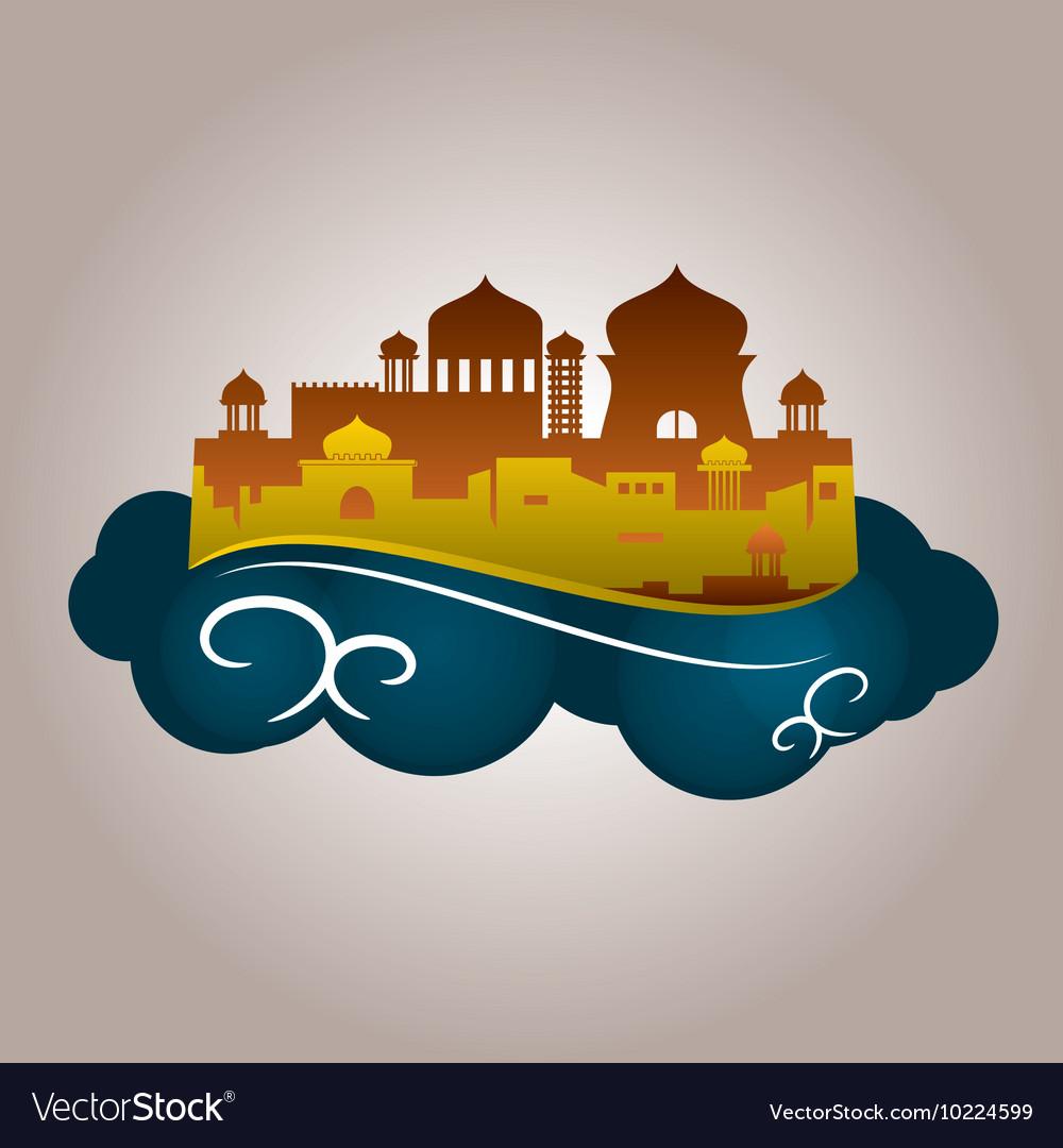 masjid awan kecil royalty free vector image vectorstock vectorstock