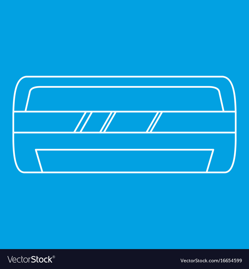 Modern air conditioner icon outline style