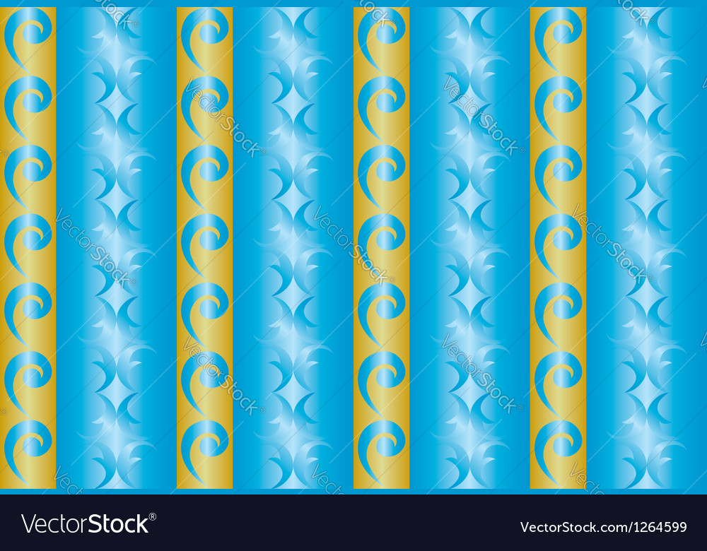 Seamless blue and yellow texture with vertical lin vector image