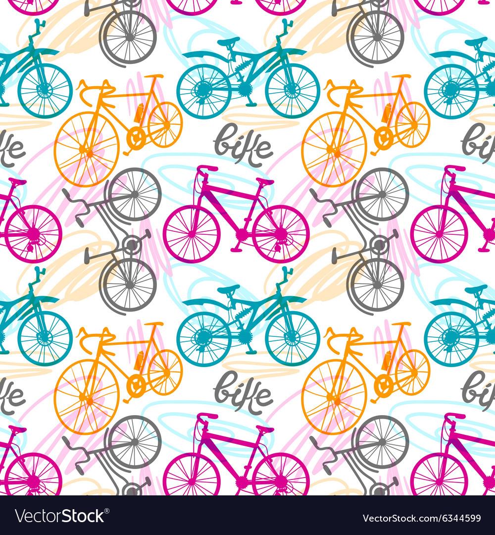 Seamless pattern bike